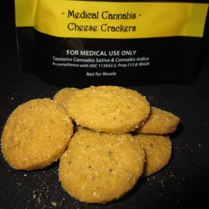 Meidcal Cannabis Cheese Crackers edibles
