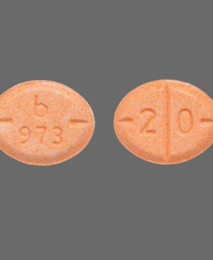 b 973 - 20 Round Orange tablets Adderall