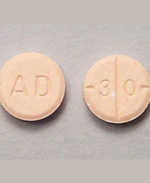 AD 30 Round orange tablets