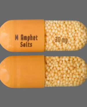 M Amphet 30mg Capsules Orange color