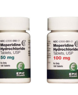 Meperidine Hydrochoride Tablets USP 100mg, 100 tablets