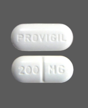 PROVIGIL 200MG long round tablets white color