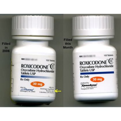 Roxicodone Oxycodone Hydrochloride Tablets, USP 30mg 100 TABLETS