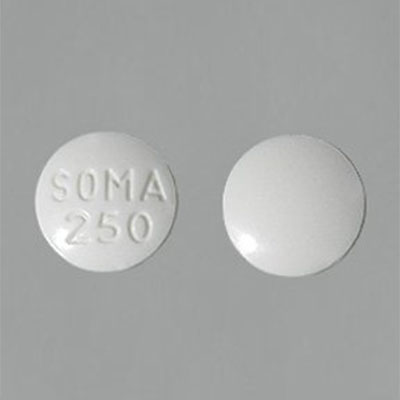 Soma 350mg round tablets white color