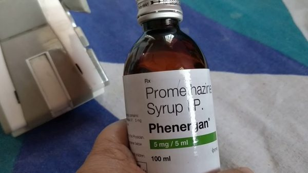 promethazine syrup phenergan bottle